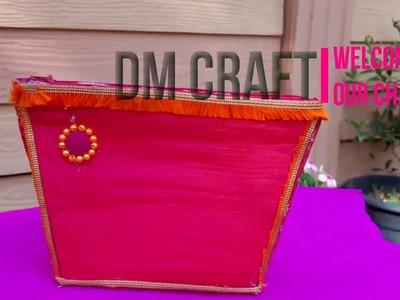 DIY CRAFT, DM CRAFT, HOW TO MAKE HANDBAG, Simple Craft idea.