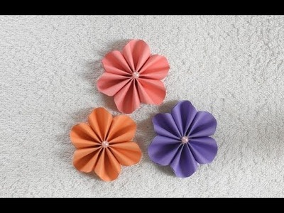 DIY: Paper Flower   How to Make Tiny Paper Flower   beautiful easy flower