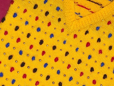 Easy Knitting Bubble design for baby's kurti