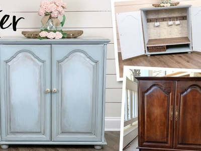 Furniture Makeover | How To Apply Glaze To Furniture | Ashleigh Lauren
