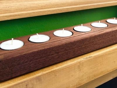 How I make solid wood tea light holders