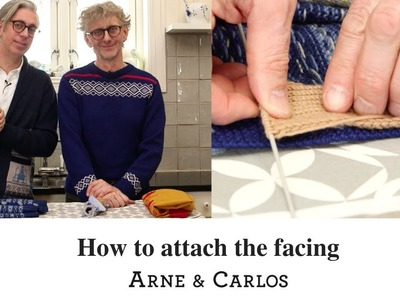 How to attach the facing to a knitted placket by ARNE & CARLOS