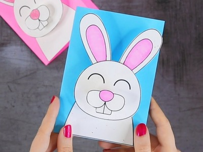 How to Make 3D Bunny Easter Card - Easter Crafts for Kids