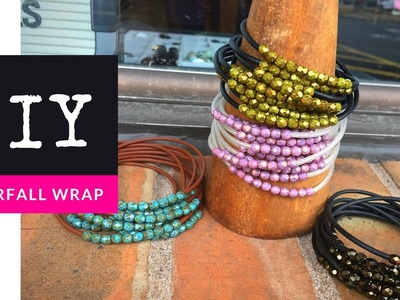 How To Make A Beaded Waterfall Wrap Bracelet with The Bead Place