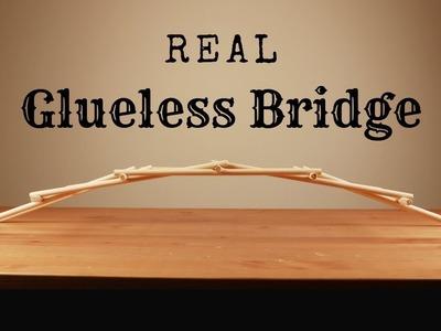 How to Make a Craft Bridge Without Glue - Leonardo Da Vinci Bridge