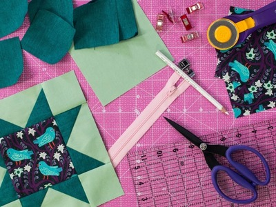 How to Make a Flying Geese Zipper Pouch - How to Quilt: Week 6