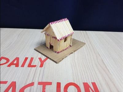How to Make a Match House with Glue and Burn it 2019