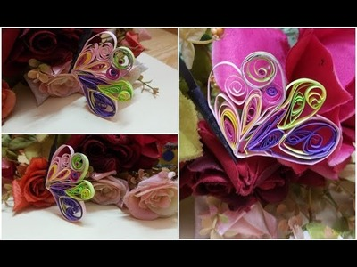 How to make  a paper quilling butterfly