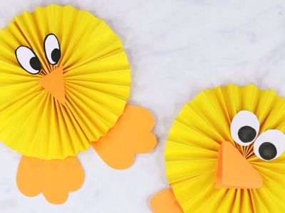 How to Make a Paper Rosette Chick - Easy Easter Paper Craft