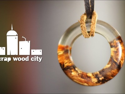 How to make a resin and olive wood ring pendant