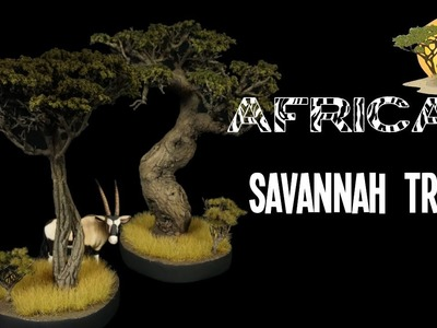 How To Make African Savannah Trees For Terrain Scenery