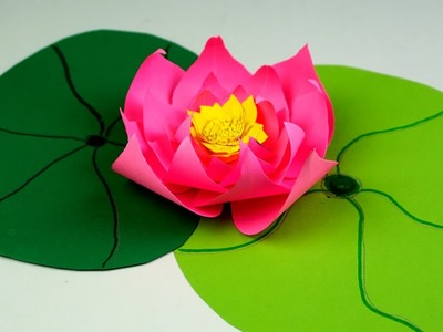 How to Make Beautiful Flower with Paper  - Making Paper lotus Flowers Step by Step - Handmade Craft