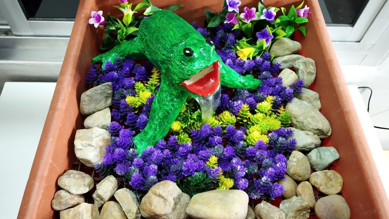How to make beautiful frog fountain very easy