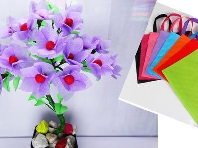 How To Make Bonsai Tree And Beautiful Flower using Old Shopping Bag || Easy Crafts ||Muniya Munni
