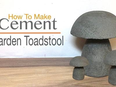 How to Make  Cement Garden Toadstool.Mushrooms