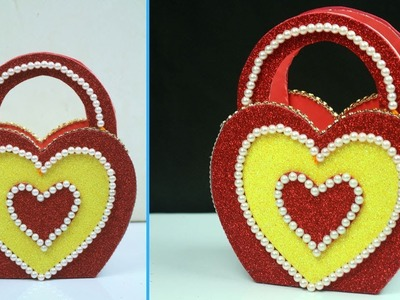 How to Make DIY Heart Shape Basket in Simple Way | Best Out of Waste Basket Making At Home