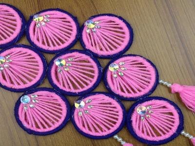 How to Make Door Hanging Using Woolen & Bangles | Best reuse ideas - Woolen Craft ideas - DIY Crafts