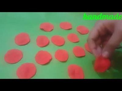 How to make italian dough or polymer clay rose flowers.artificial flowers