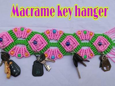 How to make macrame key hanger for beginners.