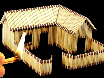 How to Make Match House Fire at Home - Match Stick House