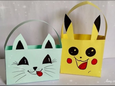 How to make paper gift bag || Easy and beautiful paper bag || Aimy creations