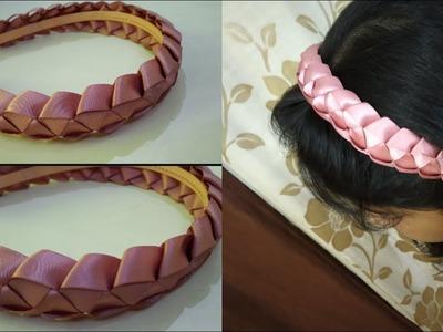 How to make ribbon headbands for little girls | ribbon hairband | Revamp it