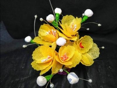 How to make shopping bag flower *Easy way**Step by step*| Muniya Munni
