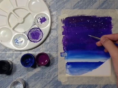 How to Paint with Poster Colours   Painting with Dong-a Poster Colours - JDarts 08