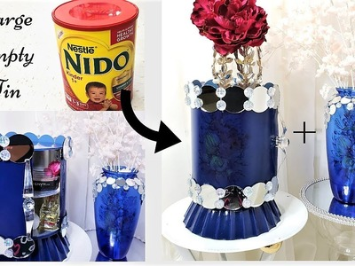 HOW TO USE EMPTY LARGE TINS FOR STORAGE  ADDING FLOWER TATTOOS  STORAGE IDEAS 2019
