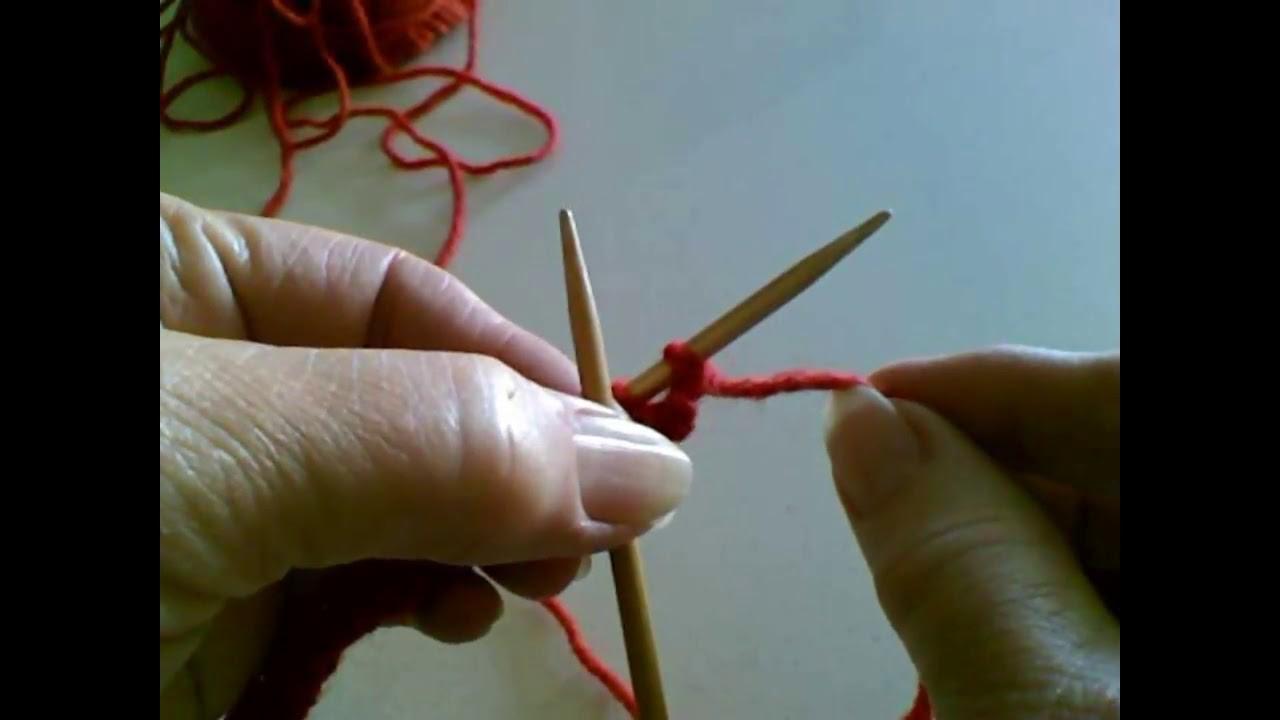 Knit Stitch (English Style of Knitting - Throwing)