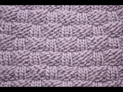 Loom knitting: large basketweave stitch on a knitting loom