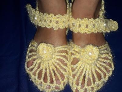 New knitting sandal design in hindi| girls sandal |new sandal design|new knitting design