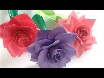 Paper rose. dry flowers. How to make a paper flower. Easy paper made. Easy craft. colour flower