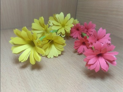 PRETTY FLOWER IDEAS ???????? How to Make Small Flowers With Paper Making Paper Flowers by Step by Step