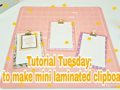 Tutorial Tuesday: How to make mini laminated clipboards   Planning With Eli