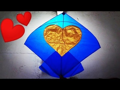 Valentine Day special |How to make a kite|