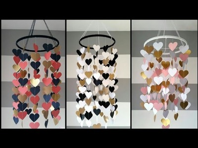 Wow!!Easy!! Paper jhumar.How to make paper wall hanging at home very easing.Wedding card reuse idea