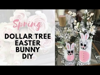 2019 Spring Easter Bunny Decor Dollar Tree DIY How-to