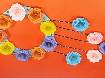 AMAZING !!! How to make a very nice wall hanging # color paper & carton#home decor| 11 minute crafts