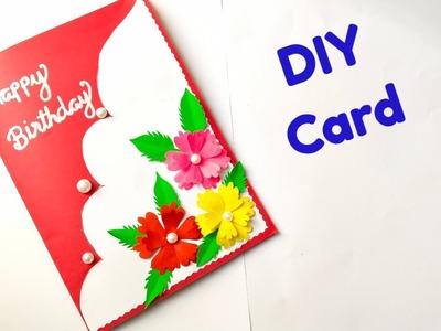 Beautiful Handmade Birthday Card. How to make Birthday card. DIY Card
