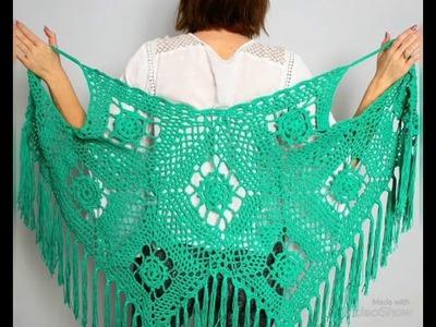 Crochet sweaters  for girls. Latest Crochet Work On Dupatta || Knitting Patterns || Krocha