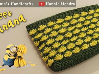 Crochet || Tutorial Motif Pisang - Sweet Banana Stitch || Subtitles Available