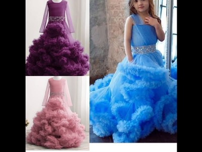 Diy 8-9 years old cloud ruffles ball gown (detailed)  | Jessica Nneka