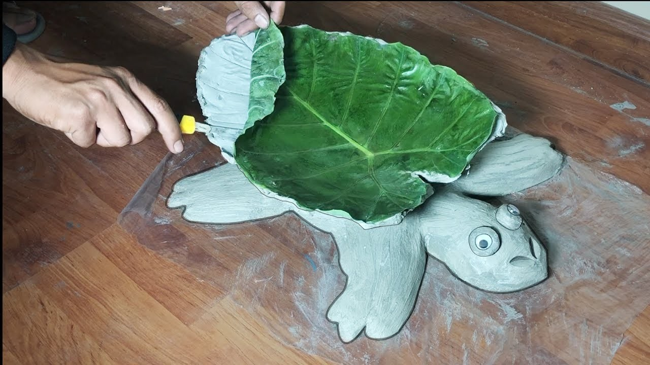DIY???? Cement Turtle Pot ????BEAUTIFUL and EASY ???? How to Make Turtle Flower Pot Holders