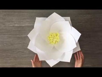 DIY Giant Paper Lotus Tutorial | How to Make a Giant Paper Flower for a wall backdrop