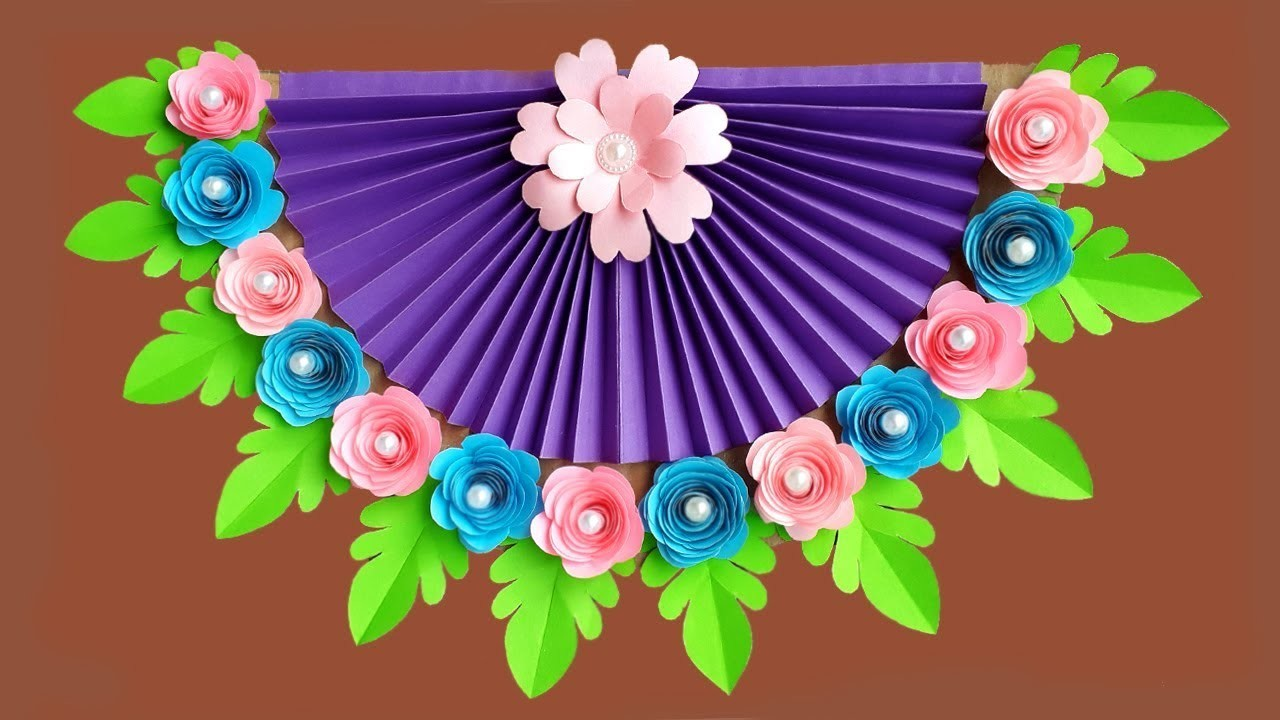 Diy Paper Flower Wall Hanging How To Make Easy Paper Flower Wall