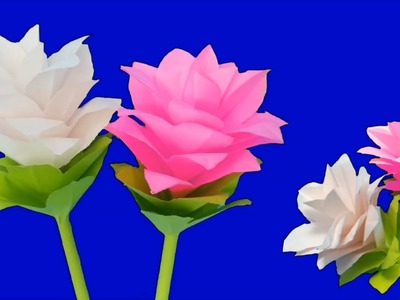 Easy DIY Paper Flowers   How to Make Beautiful Flower with Paper   Paper Flower Craft   Paper Craft