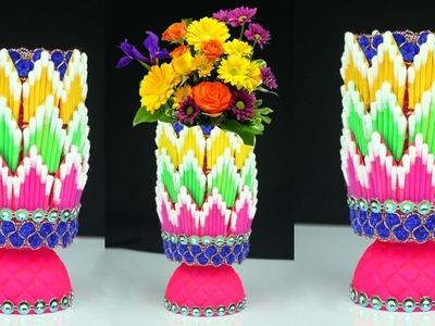 Easy Flower Vase Making   How to Make A Flower Vase At Home   Flower Vase for Home Decor
