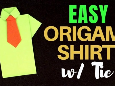 Origami Shirt Tutorial - Make an Origami Shirt and Tie | The ... | 300x400