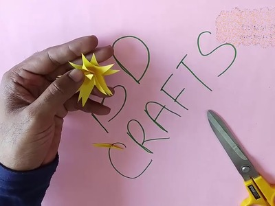 EASY PAPER FLOWER | HOW TO MAKE PAPER FLOWER STEP BY STEP || BD CRAFTS  ||  DIY-PAPER CRAFT